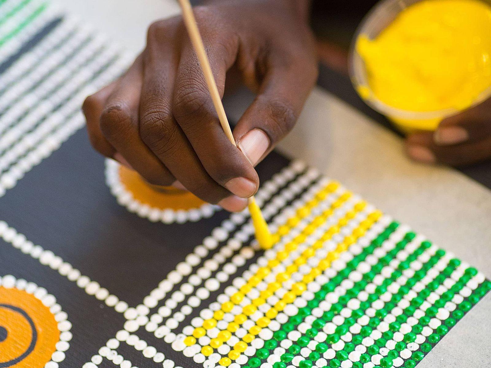 Colorful Dot Painting, Australia virtual tour