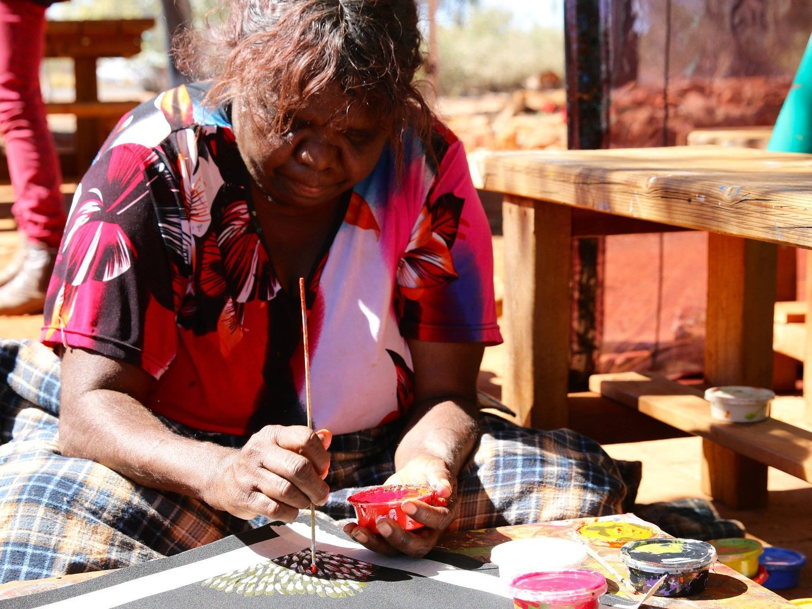 Anangu Woman Dot Painting