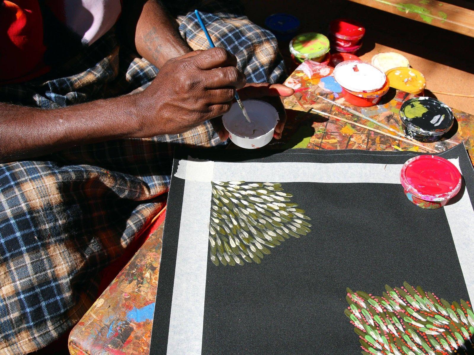 Anangu Dot Painting